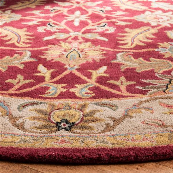 Safavieh Heritage Rug - 3.5' x 3.5' - Wool - Red/Ivory