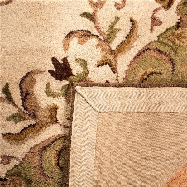 Safavieh Heritage Rug - 4' x 4' - Wool - Beige/Green