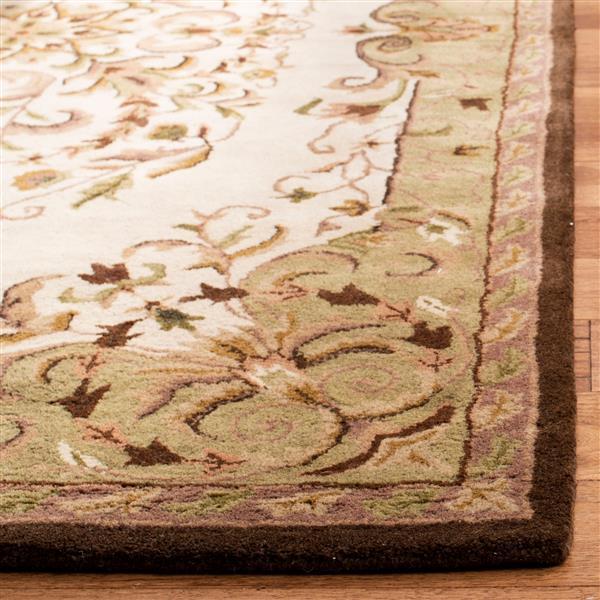 Safavieh Heritage Rug - 2.3' x 8' - Wool - Beige/Green