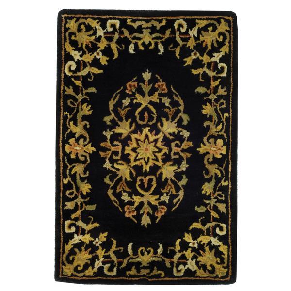 Safavieh Heritage Rug - 2' x 3' - Wool - Black