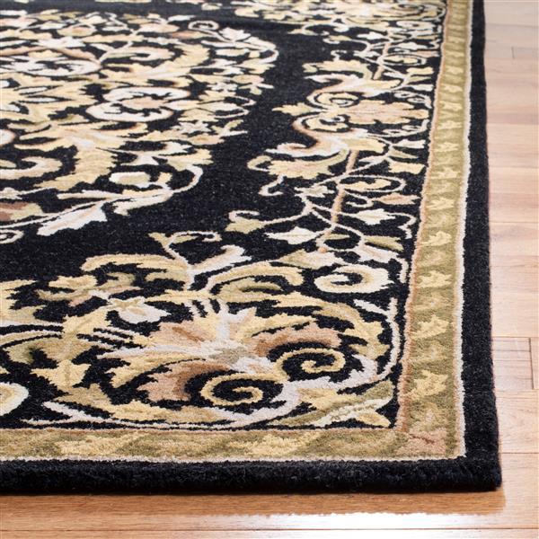 Safavieh Heritage Rug - 3' x 5' - Wool - Black