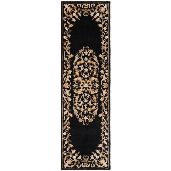 Safavieh Heritage Rug - 2.3' x 8' - Wool - Black