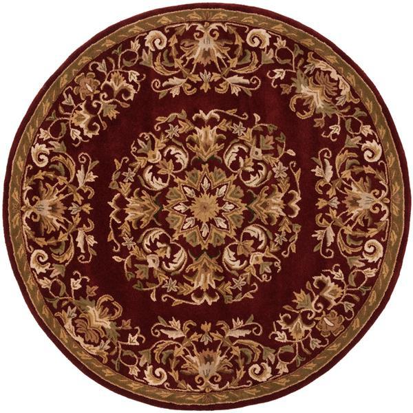 Safavieh Heritage Rug - 3.5' x 3.5' - Wool - Red
