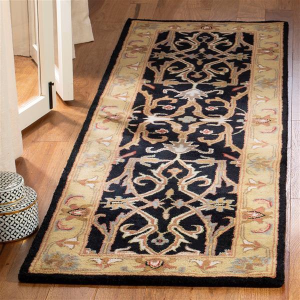 Safavieh Heritage Rug - 2.3' x 8' - Wool - Charcoal/Beige