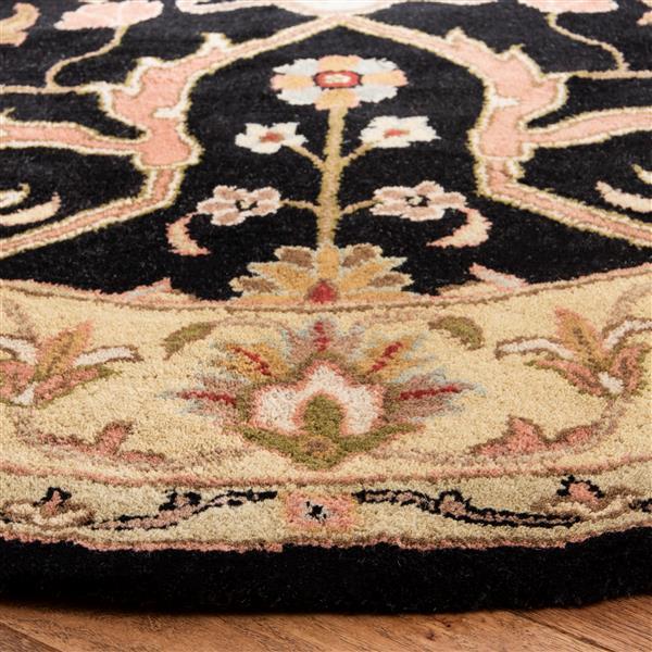 Safavieh Heritage Rug - 4' x 4' - Wool - Charcoal/Beige