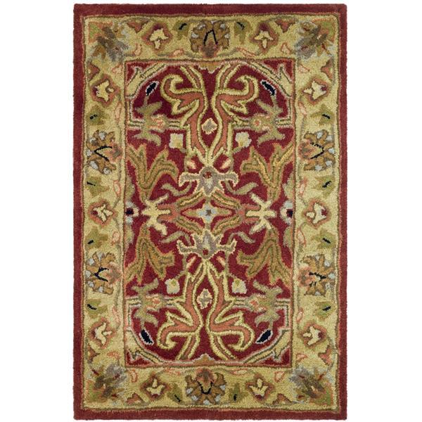 Safavieh Heritage Rug - 2' x 3' - Wool - Red/Gold
