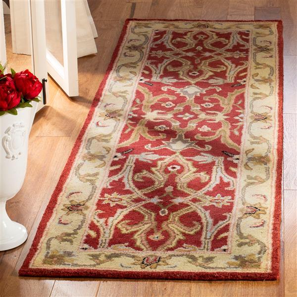 Safavieh Heritage Rug - 2.3' x 8' - Wool - Red/Gold