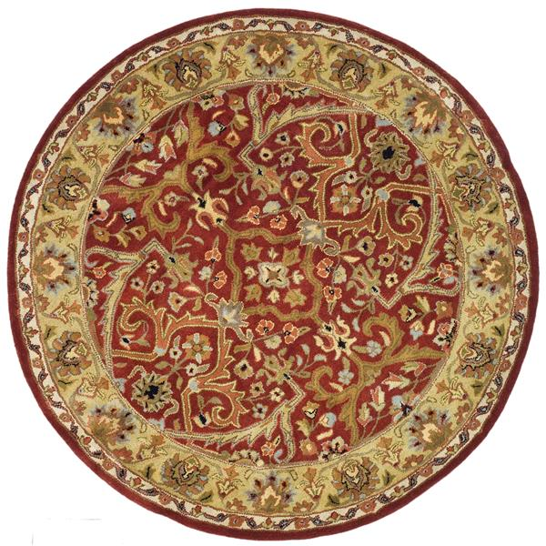 Safavieh Heritage Rug - 3.5' x 3.5' - Wool - Red/Gold