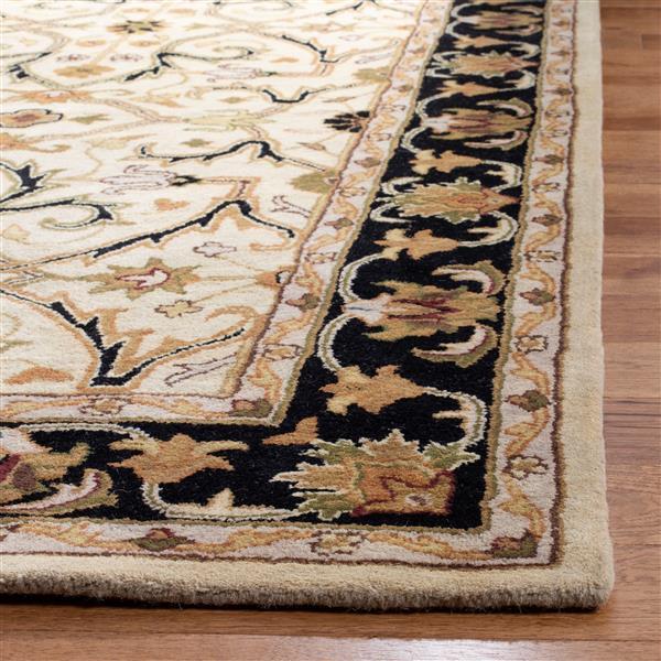 Safavieh Heritage Rug - 2' x 3' - Wool - Ivory/Black