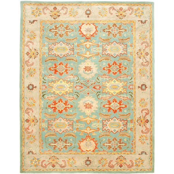 Safavieh Heritage Rug - 12' x 18' - Wool - Light Blue/Ivory