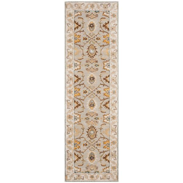 Safavieh Heritage Rug - 2.3' x 8' - Wool - Light Gray
