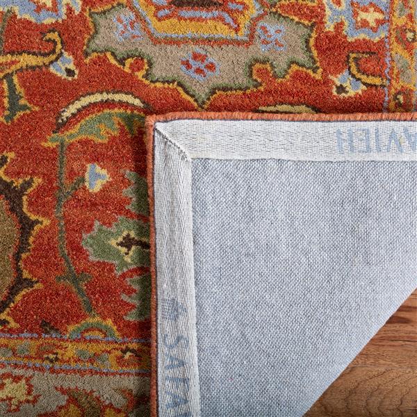 Safavieh Heritage Rug - 2' x 3' - Wool - Rust/Beige