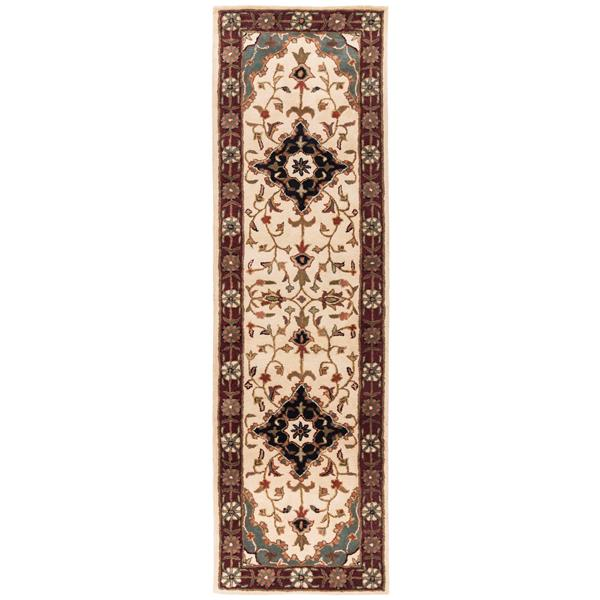 Safavieh Heritage Rug - 2.3' x 8' - Wool - Ivory/Red