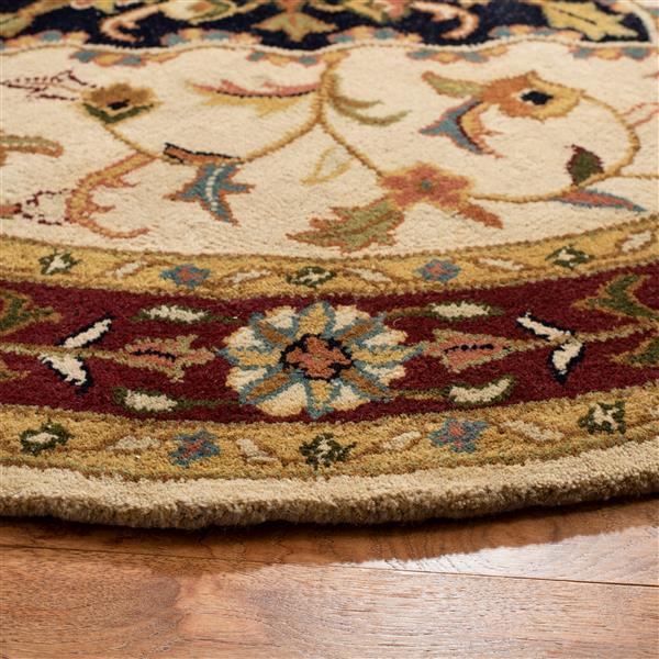 Safavieh Heritage Rug - 3' x 5' - Wool - Ivory/Red