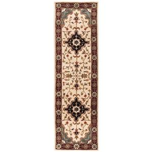 Safavieh Heritage Rug - 2.3' x 6' - Wool - Ivory/Red