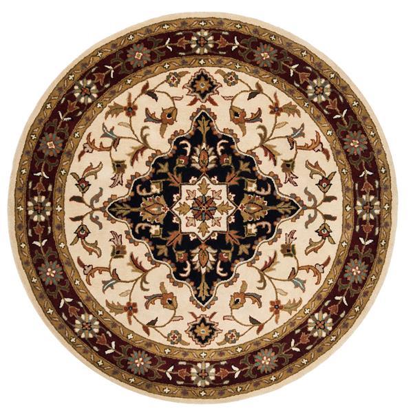 Safavieh Heritage Rug - 3.5' x 3.5' - Wool - Ivory/Red