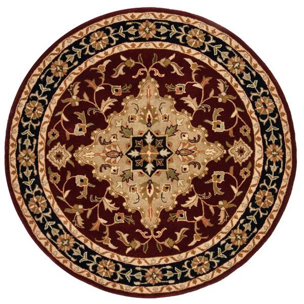 Safavieh Heritage Rug - 3.5' x 3.5' - Wool - Red/Black