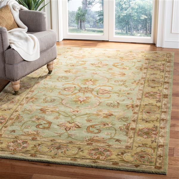 Safavieh Heritage Rug - 11' x 17' - Wool - Green/Gold