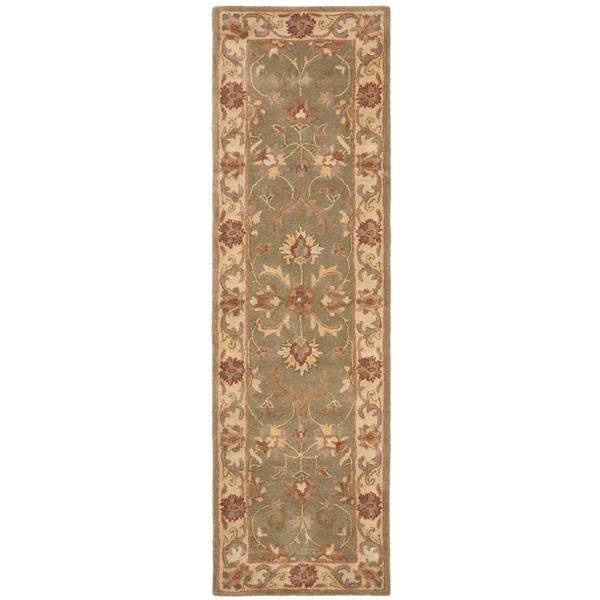 Safavieh Heritage Rug - 2.3' x 8' - Wool - Green/Gold