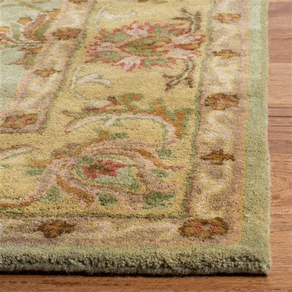 Safavieh Heritage Rug - 3' x 5' - Wool - Green/Gold