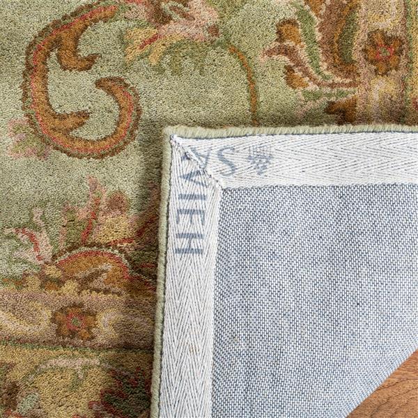 Safavieh Heritage Rug - 3.5' x 3.5' - Wool - Green/Gold