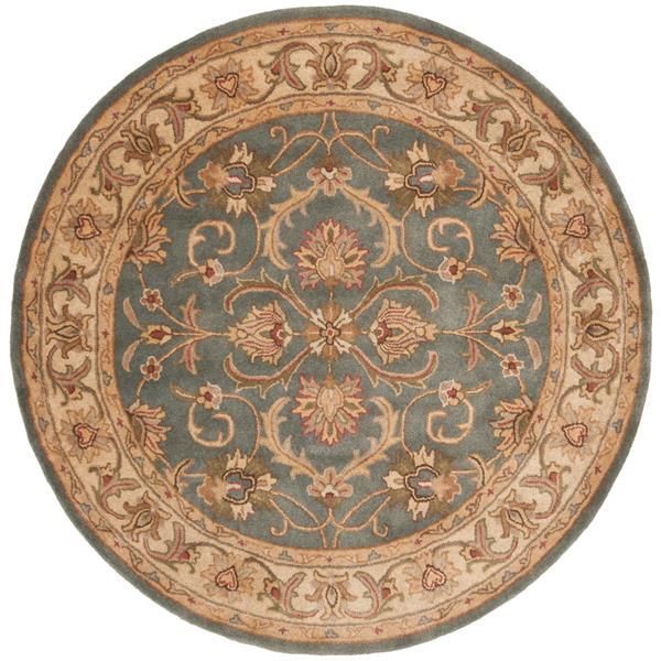 Safavieh Heritage Rug - 3.5' x 3.5' - Wool - Blue/Beige