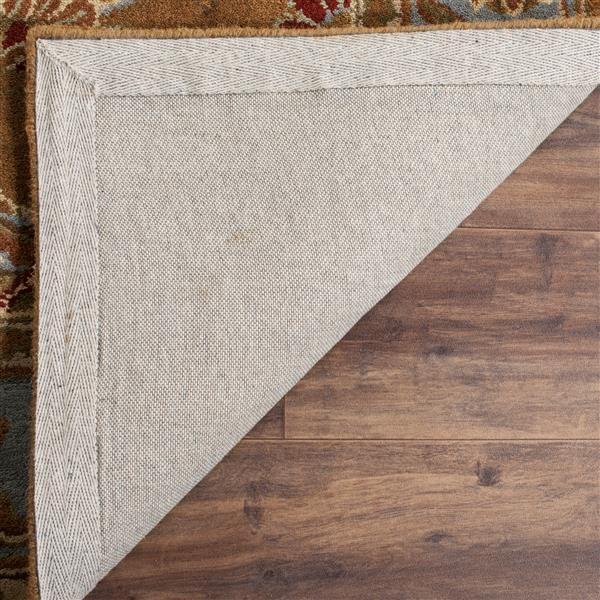 Safavieh Heritage Rug - 11' x 17' - Wool - Brown/Blue