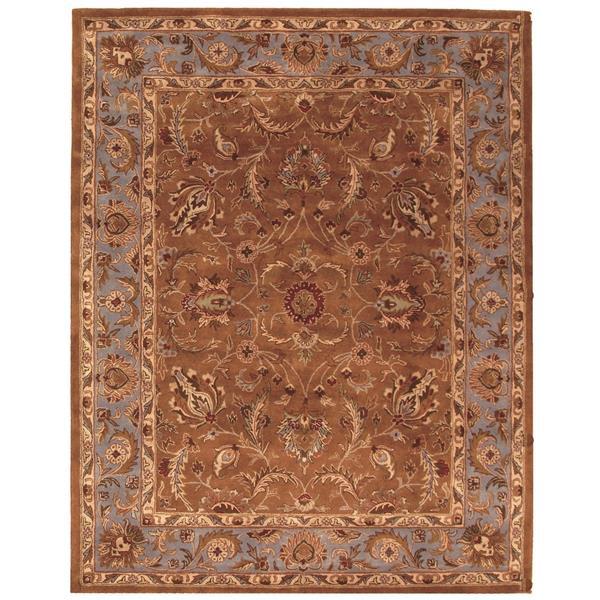 Safavieh Heritage Rug - 11' x 17' - Wool - Brown/Blue