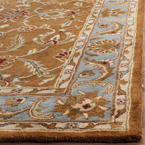 Safavieh Heritage Rug - 2.3' x 8' - Wool - Brown/Blue