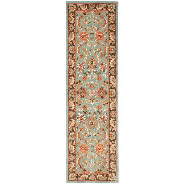 Safavieh Heritage Rug - 2.3' x 8' - Wool - Blue/Brown