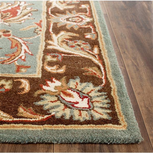 Safavieh Heritage Rug - 3' x 5' - Wool - Blue/Brown