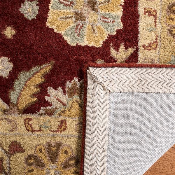 Safavieh Heritage Rug - 3' x 5' - Wool - Red/Gold
