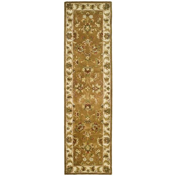 Safavieh Heritage Rug - 2.3' x 8' - Wool - Mocha/Ivory