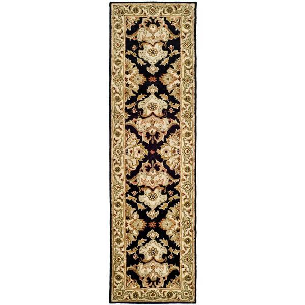 Safavieh Heritage Rug - 2.3' x 8' - Wool - Black/Ivory