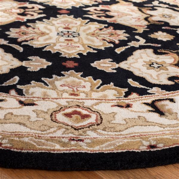 Safavieh Heritage Rug - 3.5' x 3.5' - Wool - Black/Ivory