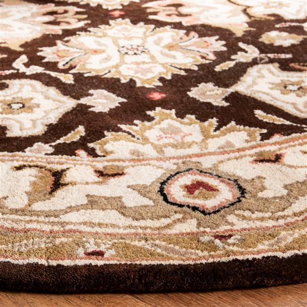 Safavieh Heritage Rug - 3' x 5' - Wool - Espresso/Ivory