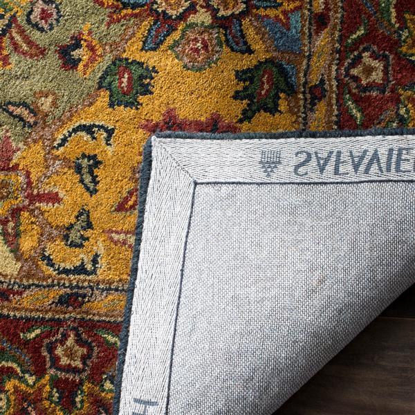 Safavieh Heritage Rug - 11' x 17' - Wool - Burgundy