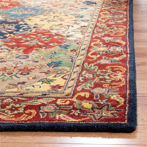 Safavieh Heritage Rug - 2.3' x 8' - Wool - Burgundy