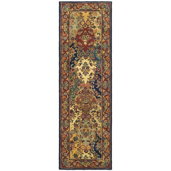 Safavieh Heritage Rug - 2.3' x 6' - Wool - Burgundy