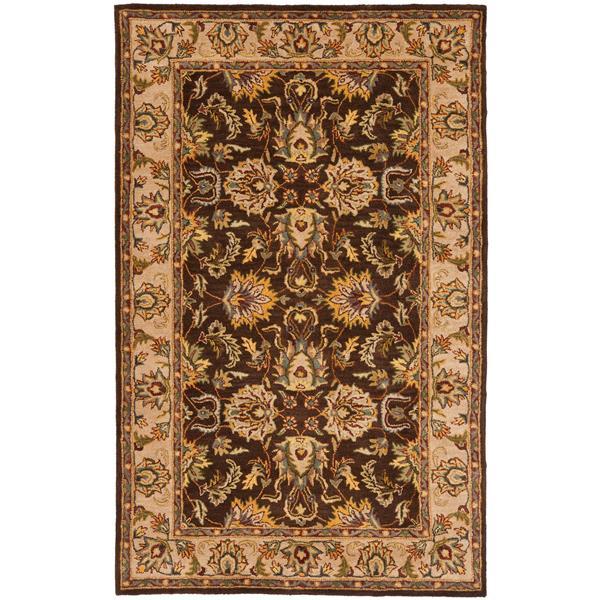 Safavieh Heritage Rug - 3' x 5' - Wool - Brown/Ivory
