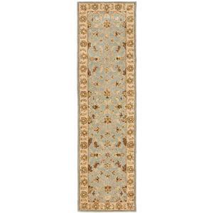 Safavieh Heritage Rug - 2.3' x 6' - Wool - Light Blue/Beige
