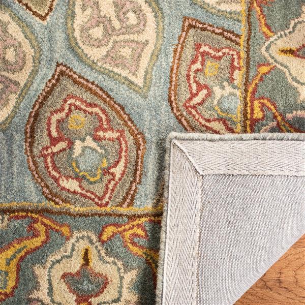 Safavieh Heritage Rug - 3.5' x 3.5' - Wool - Blue/Gray