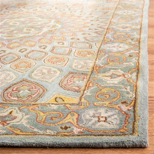 Safavieh Heritage Rug - 2.3' x 6' - Wool - Blue/Gray