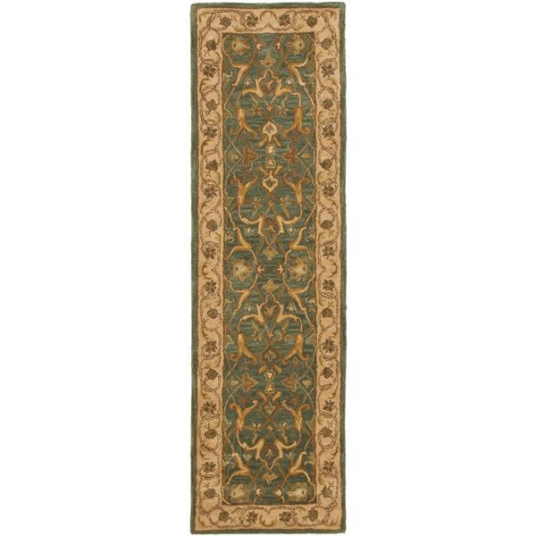 Safavieh Heritage Rug - 2.3' x 6' - Wool - Blue/Beige