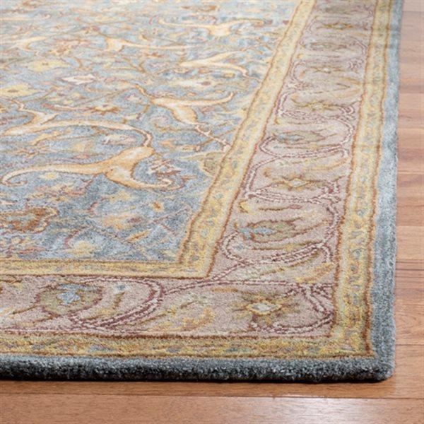 Safavieh Heritage Rug - 3' x 5' - Wool - Blue/Beige