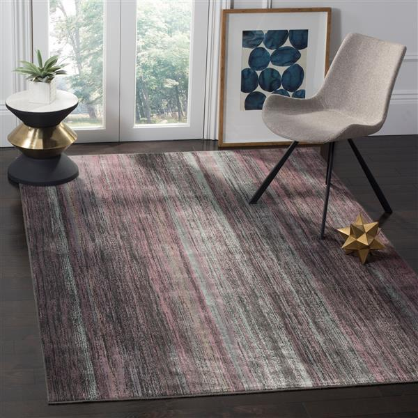 Safavieh Vintage Abstract Rug - 8.8' x 12.2' - Viscose - Charcoal
