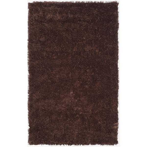 Safavieh Shag Rug - 8.5' x 11.5' - Polyester - Chocolate