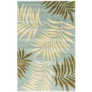 Soho Floral Rug - 7.5' x 9.5' - Wool - Blue