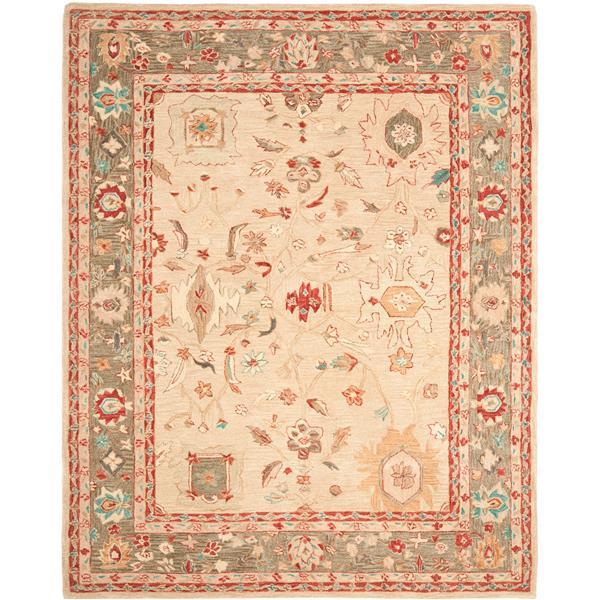 Safavieh Anatolia Floral Rug - 9.5' x 13.5' - Wool - Beige/Green