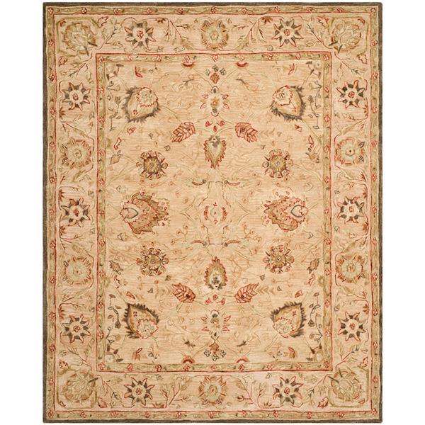 Safavieh Anatolia Floral Rug - 9.5' x 13.5' - Wool - Beige